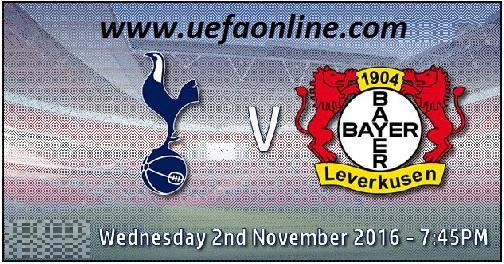 2016 Tottenham vs Leverkusen UEFA Live Telecast