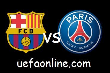 PSG vs Barcelona uefa live