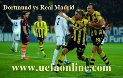Dortmund vs Real Madrid live