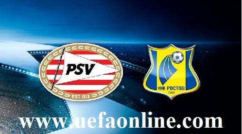 FK Rostov vs PSV Eindhoven live online
